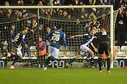 Birmingham City midfielder Maikel Kieftenbeld celebrates scoring goal during the Sky Bet Championship match between Birmingham City and Brentford at St Andrews, Birmingham, England on 2 January 2016. Photo by Alan Franklin.