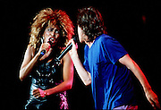 Mick Jagger and Tina Turner during the 1985 Live Aide Concert at Philadelphia's JFK Stadium.