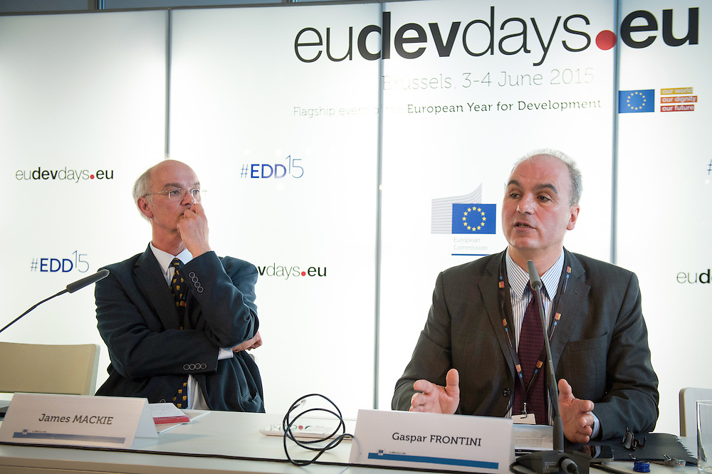 03 June 2015 - Belgium - Brussels - European Development Days - EDD - Growth - Ideas to impact-Innovation prizes for development - Gaspar Frontini , <br /> Head of unit at European Commission - James Mackie<br /> Senior Adviser EU Development Policy, European Centre for Development Policy Management&copy; European Union