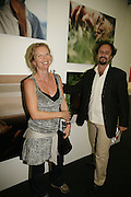 Vanessa Branson and Frederic Scholl, The Professional View and Private View of Frieze Art Fair. London. 11 october 2006. -DO NOT ARCHIVE-© Copyright Photograph by Dafydd Jones 66 Stockwell Park Rd. London SW9 0DA Tel 020 7733 0108 www.dafjones.com