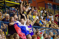 Supporters of Slovenia during friendly match between National teams of Slovenia and Turkey for Eurobasket 2013 on August 4, 2013 in Arena Zlatorog, Celje, Slovenia. (Photo by Vid Ponikvar / Sportida.com)