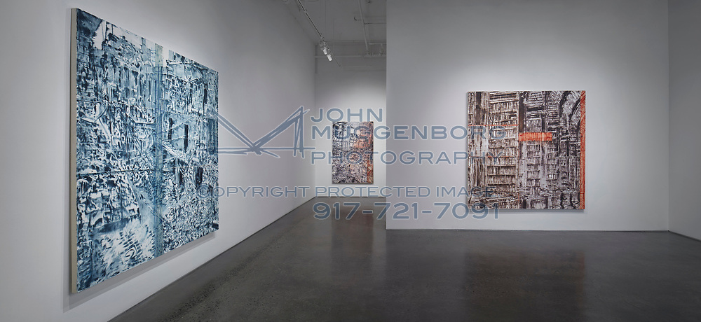 "Jorge Tacla : ""Sign of Abandonment"" installation at Cristin Tierney gallery in Chelsea. Photograph by John Muggenborg."