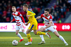 Max Meyer of Crystal Palace takes on Ben Whiteman of Doncaster Rovers - Mandatory by-line: Robbie Stephenson/JMP - 17/02/2019 - FOOTBALL - The Keepmoat Stadium - Doncaster, England - Doncaster Rovers v Crystal Palace - Emirates FA Cup fifth round proper