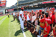 ANAHEIM, CA - AUGUST 24:  Vladimir Guerrero #27 of the Los Angeles Angels of Anaheim meets with fans to pose for pictures and sign autographs during Photo Day before the game against the Minnesota Twins at Angel Stadium on August 24, 2008 in Anaheim, California. The Angels defeated the Twins 5-3. ©Paul Anthony Spinelli *** Local Caption *** Vladimir Guerrero