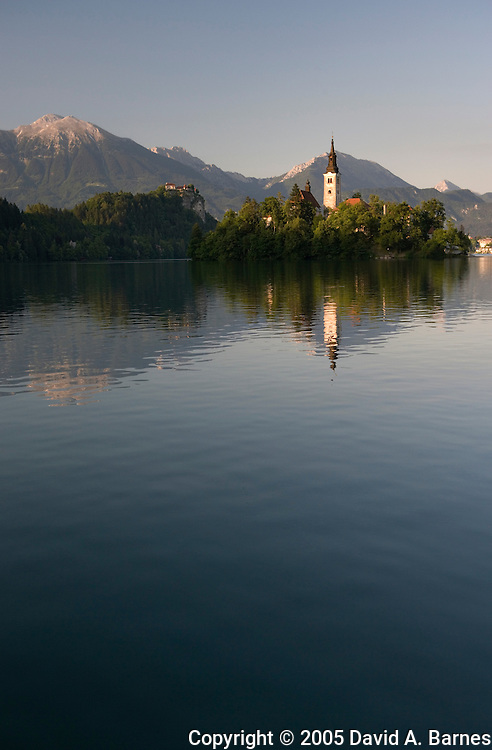 Church of the Assumption on island in Lake Bled, Slovenia