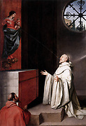 The Vision of Saint Bernard'1650 AD  by Alonso Cano, 1601-67, Spanish baroque painter. Bernard of Clairvaux, (1090 –1153) was a Frankish abbot and the founder of the Cistercian monastic order. 'lactation miracle' of which there are several renditions. Here is one: When St. Bernard of Clairveaux (1090-1153)