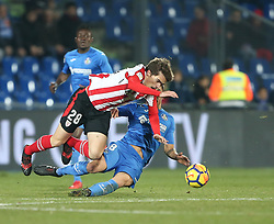 January 19, 2018 - Getafe, Spain - Inigo Cordoba of Athletic Club in action during the La Liga match between Getafe and Athletic Club at Coliseum Alfonso Perez on January 19, 2018 in Getafe, Spain. (Credit Image: © Raddad Jebarah/NurPhoto via ZUMA Press)