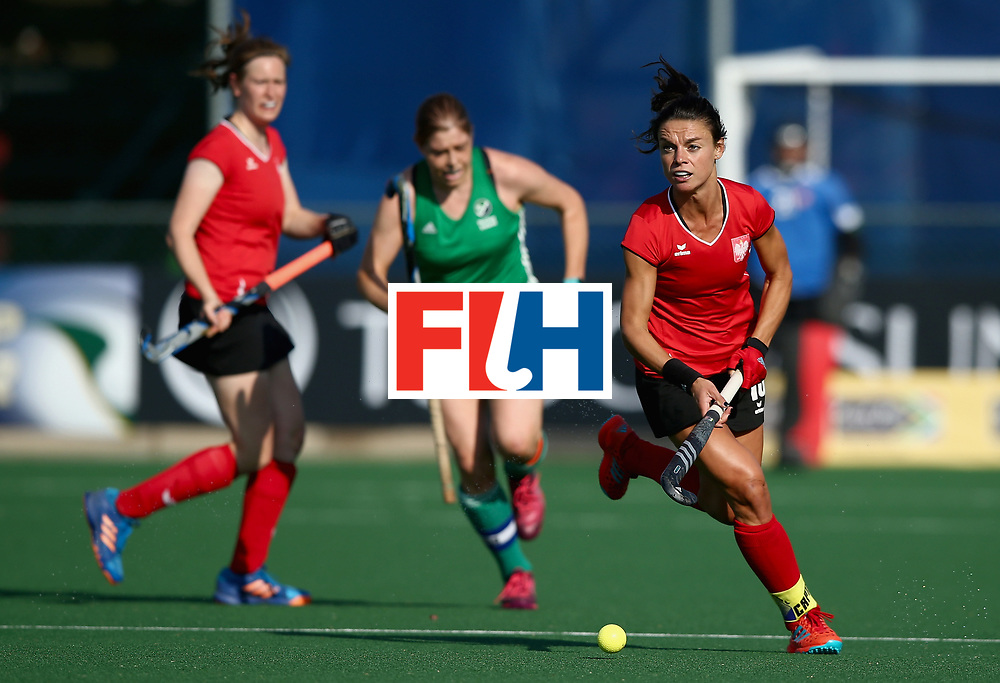 JOHANNESBURG, SOUTH AFRICA - JULY 12: Marlena Rybacha of Poland in action during day 3 of the FIH Hockey World League Semi Finals Pool A match between Ireland and Poland at Wits University on July 12, 2017 in Johannesburg, South Africa. (Photo by Jan Kruger/Getty Images for FIH)