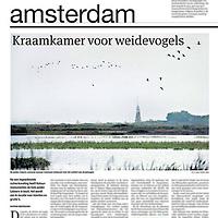 Tekst en beeld zijn auteursrechtelijk beschermd en het is dan ook verboden zonder toestemming van auteur, fotograaf en/of uitgever iets hiervan te publiceren <br /> <br /> Parool 21 oktober 2013: weidevogels in de polder