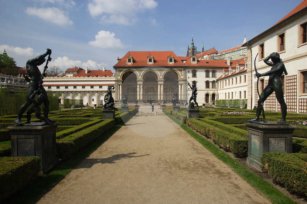The Wallenstein Palace Prague, Czech Republic. The palace was constructed in 1624 and is in the Little Quarter of Prague.