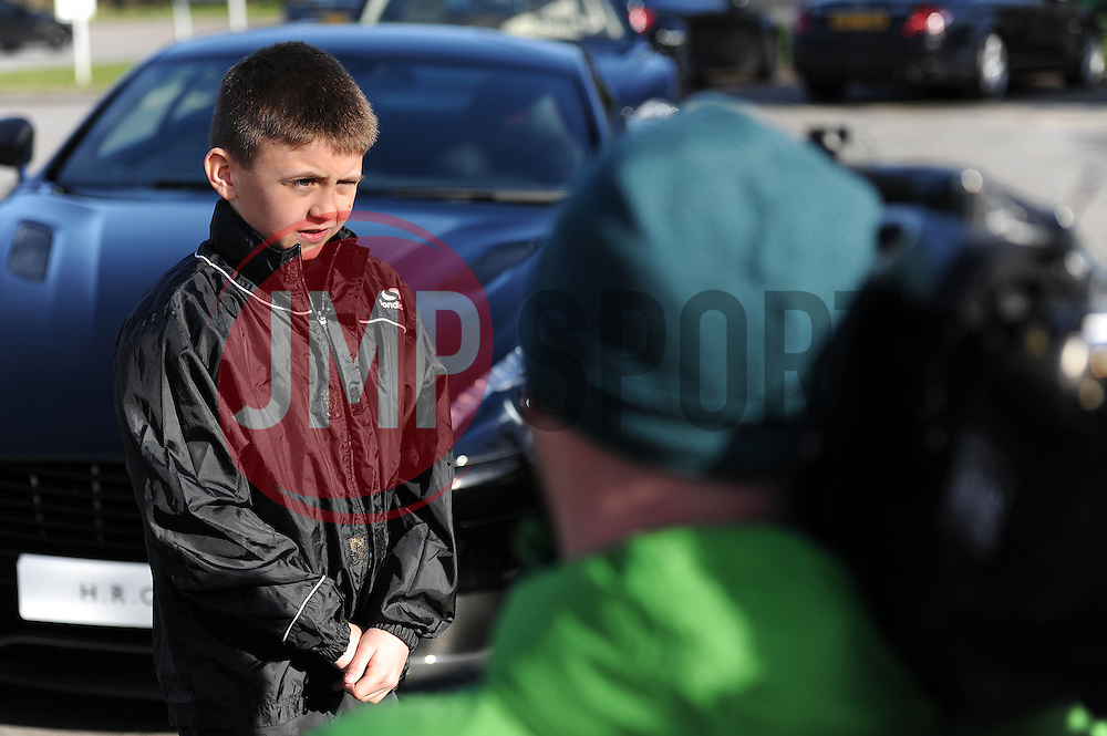 Connor is interviewed by Sky Sports - Photo mandatory by-line: Dougie Allward/JMP - Mobile: 07966 386802 - 01/04/2015 - SPORT - Football - Bristol - Bristol City Training Ground - HR Owen and SAM FM - Live like a footballer for a day