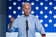 Former Vice President Joe Biden during a town hall meeting at the International Longshoreman's Association Hall July 7, 2019 in Charleston, South Carolina.