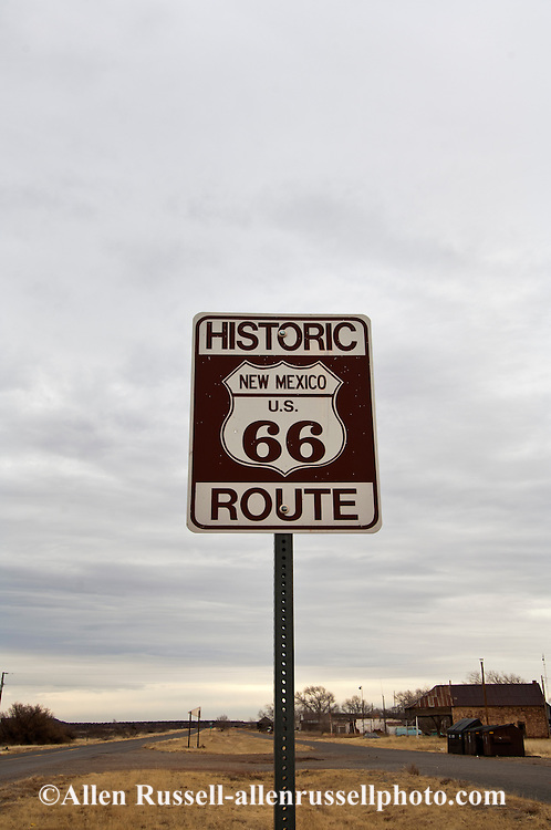 Historic Route 66 Highway, eastern New Mexico