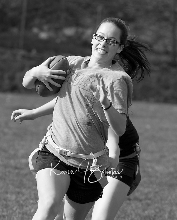Powder Puff football at Laconia High School May 6, 2011.