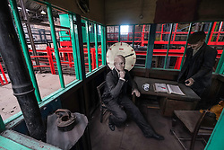 Colliery control room exhibit at the National Mining Museum at Newtongrange in Scotland, United Kingdom.