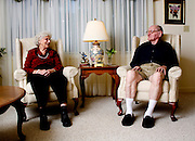 Missouri: an elderly couple enjoy each other at their retirement home (photo: Ann Summa/Getty Images).