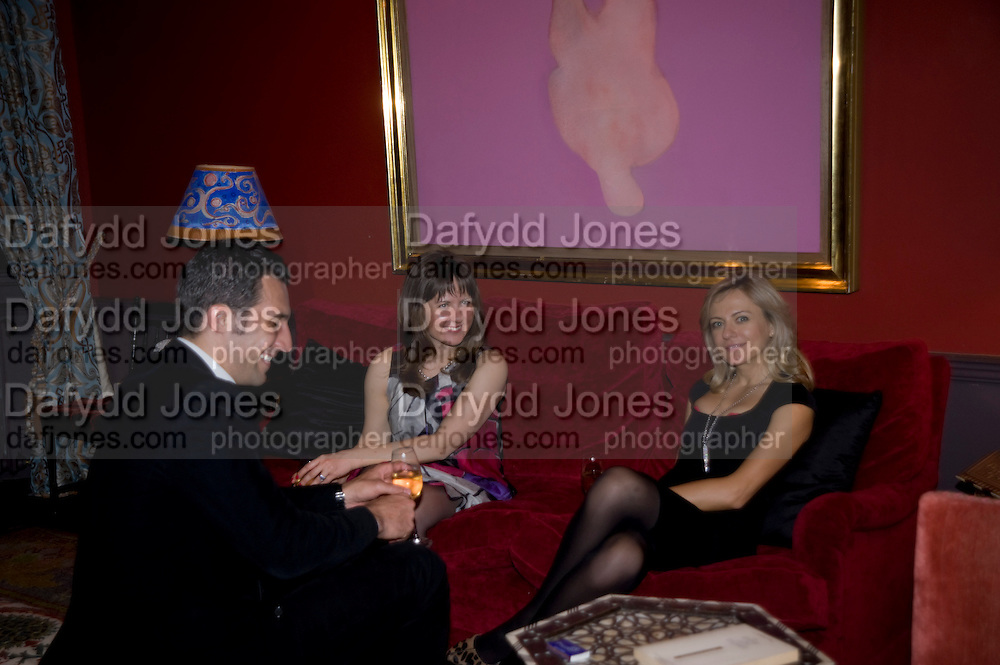 CHRISTIAN ALBO; ALINA DAVEY; NATALIA NOSOVA. fff. Video instalation by Kutluk Ataman. Thomas Dane Gallery, Duke st. Afterwards at Ivor Braka's house. Chelsea. London. 12 March 2009
