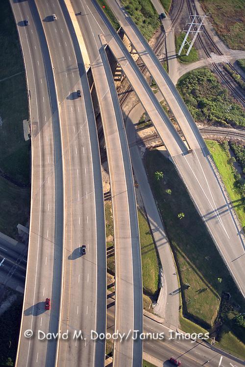 Aerial view of I-664 in Newport News, VA