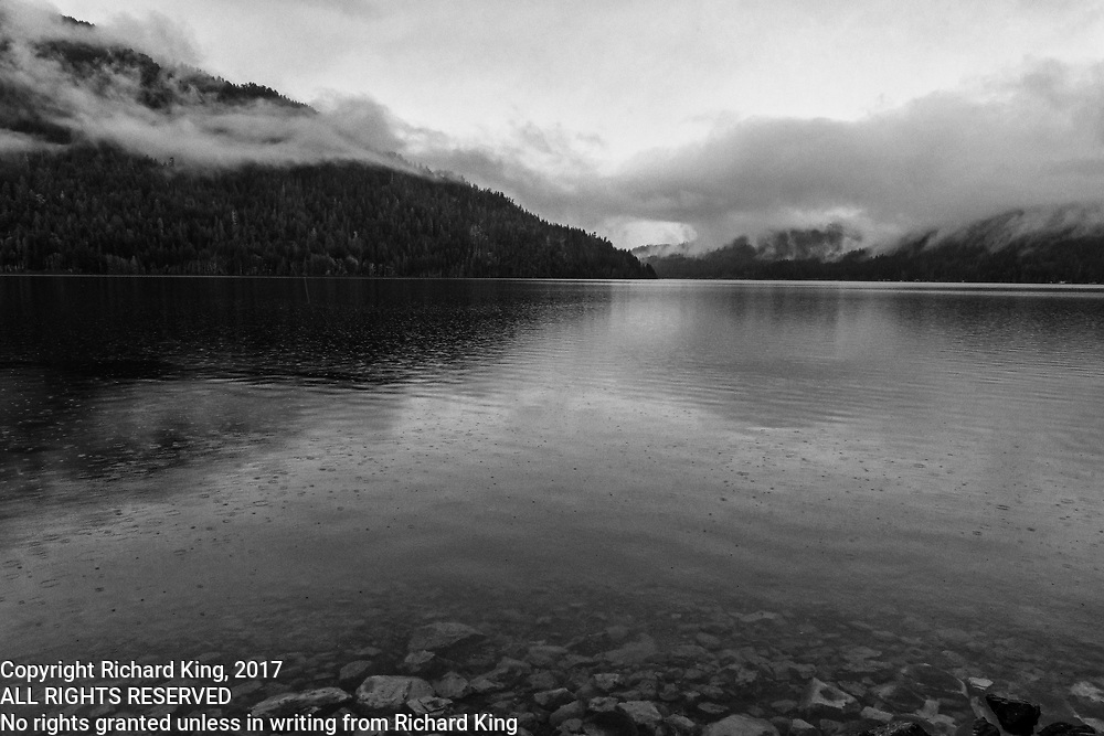 Winter Landscape photographs of Crescent Lake, Olympic National Park, WA, USA