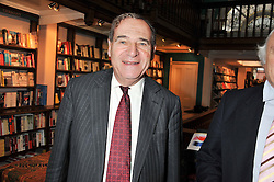 LORD BRITTAN OF SPENNITHORNE at a party to celebrate the publication of Stanley Johnson's new book 'Where The Wild Things Were' held at Daunt Books, 83 Marylebone High Street, <br /> London W1 on 18th July 2012.