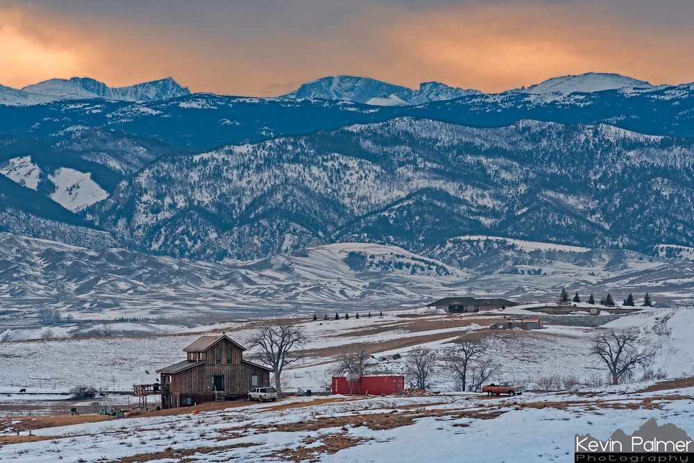 I was driving a back road north of Buffalo, Wyoming, when I came upon this scene. The peaks above are Loaf Mountain, Bighorn Peak, and Darton Peak.