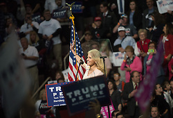 November 4, 2016 - Hershey, Pennsylvania, United States - Kellyanne Conway speaks in Hershey, Pennsylvania before the GOP Candidate Donald Trump takes the stage  during a rally at the Giant Center in Hershey, Pennsylvania on November 4, 2016. (Credit Image: © Zach D Roberts/NurPhoto via ZUMA Press)
