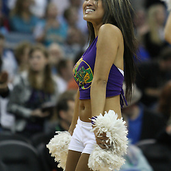 18 February 2009: A New Orleans Hornets Honeybee cheerleader performs during a 117-85 win by the New Orleans Hornets over the Orlando Magic at the New Orleans Arena in New Orleans, Louisiana.