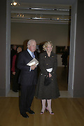 Sir Simon Day and Wendy Coumantaros, Hogarth private view and dinner. Tate Britain. London. 5 February 2007.  -DO NOT ARCHIVE-© Copyright Photograph by Dafydd Jones. 248 Clapham Rd. London SW9 0PZ. Tel 0207 820 0771. www.dafjones.com.