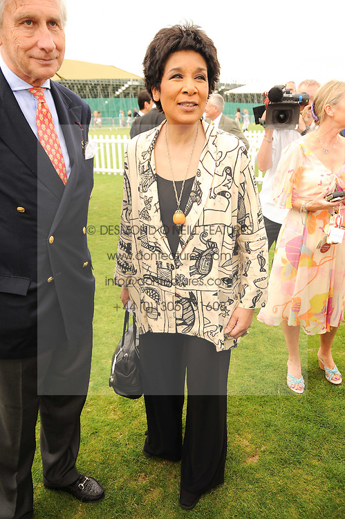 MOIRA STUART at the Cartier International Polo at Guards Polo Club, Windsor Great Park, Berkshire on 25th July 2010.