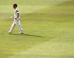Somerset's James Hildreth walks off the pitch after being dismissed by Hampshire's James Tomlinson - Photo mandatory by-line: Robbie Stephenson/JMP - Mobile: 07966 386802 - 21/06/2015 - SPORT - Cricket - Southampton - The Ageas Bowl - Hampshire v Somerset - County Championship Division One