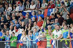 Fans of Slovenia during handball match between National teams of Slovenia and Denmark on Day 2 in Main Round of Men's EHF EURO 2018, on January 19, 2018 in Arena Varazdin, Varazdin, Croatia. Photo by Mario Horvat / Sportida