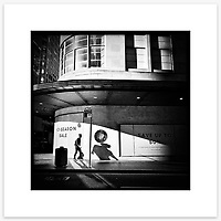 &quot;Man With 3 Shadows&quot;, Market Street, Sydney. From the Ephemeral Sydney street series.<br /> <br /> Available print sizes (unframed): <br /> <br /> 30 x 30 cm - Limited edition of six (6) signed &amp; numbered pigment ink prints on Hahnem&uuml;hle Photo Rag Bright White archival paper + maximum two (2) artist&rsquo;s proofs - $220<br /> <br /> Framed prints available for delivery to Sydney metro area. POA.<br /> <br /> Price includes GST &amp; delivery within Australia.<br /> <br /> To order please email orders@girtbyseaphotography.com