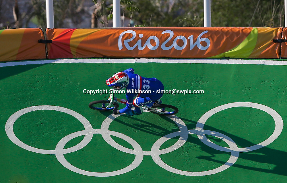 Picture by Alex Whitehead/SWpix.com - 17/08/2016 - 2016 Rio Olympic Games - BMX - Olympic BMX Centre, Rio de Janeiro, Brazil - France's Joris Daudet qualifies fastest in the Men's Seeding Run.