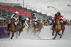 Pablo Jauretche of team Germany going for the ball<br /> St.Moritz Polo World Cup On Snow 2011<br /> © Dirk Caremans