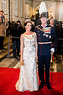 1-1-2018 - COPENHAGEN - Prince Joachim and Princess Marie of Denmark arrive at the annual New Years reception in Amalienborg Palace in Copenhagen, Denmark, Danish royal family attend New Years reception 2018 COPYRIGHT ROBIN UTRECHT<br /> <br /> 2018/01/01 - KOPENHAGEN -  Prins Joachim en Prinses Marie van Denemarken aankomt op de jaarlijkse nieuwjaarsreceptie in Amalienborg in Kopenhagen, Denemarken, de Deense koninklijke familie wonen Nieuwjaarsreceptie 2018 COPYRIGHT ROBIN UTRECHT