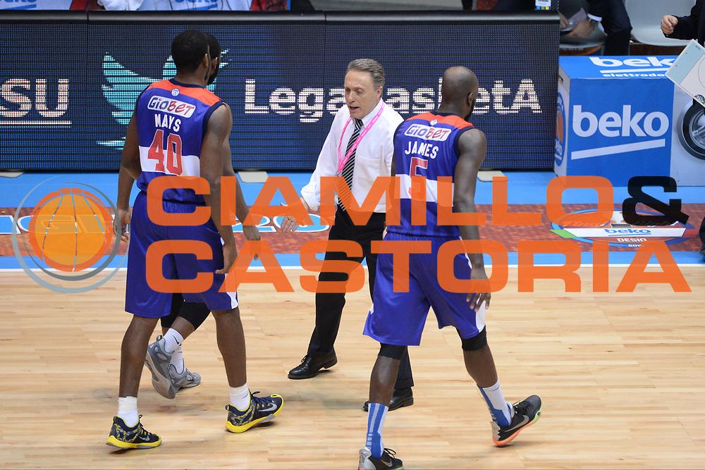DESCRIZIONE : Final Eight Coppa Italia 2015 Desio Semifinale Olimpia EA7 Emporio Armani Milano - Enel Brindisi<br /> GIOCATORE : Piero Bucchi<br /> CATEGORIA : Esultanza<br /> SQUADRA : Enel Brindisi<br /> EVENTO : Final Eight Coppa Italia 2015 <br /> GARA : Olimpia EA7 Emporio Armani Milano - Enel Brindisi<br /> DATA : 21/02/2015<br /> SPORT : Pallacanestro <br /> AUTORE : Agenzia Ciamillo-Castoria/M.Longo