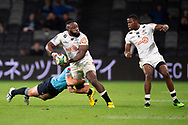 SYDNEY, AUSTRALIA - APRIL 27: Sharks player Tendai Mtawarira (1) looks to pass the ball at round 11 of Super Rugby between NSW Waratahs and Sharks on April 27, 2019 at Western Sydney Stadium in NSW, Australia. (Photo by Speed Media/Icon Sportswire)