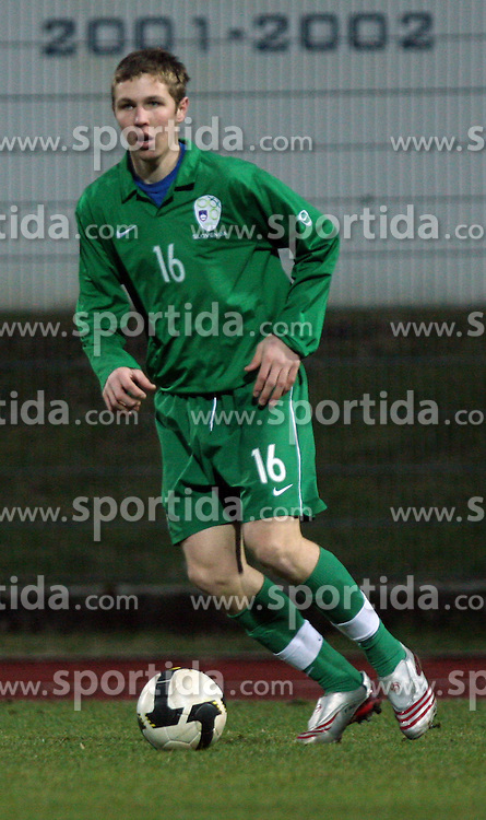 Jasmin Kurtic (16)  of Slovenia during Friendly match between U-21 National teams of Slovenia and Romania, on February 11, 2009, in Nova Gorica, Slovenia. (Photo by Vid Ponikvar / Sportida)