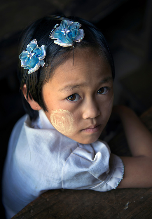 A girl at school in the northern Shan state, Myanmar.