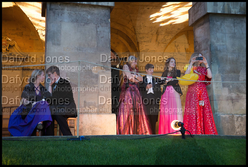 ALEXANDRA PADDOCK; PROF JAMES STUDD; ALICE MCCALLUM; EMILY BAILEY; KATE SARGAN; KATIE; SAM;, The Tercentenary Ball, Worcester College. Oxford. 27 June 2014
