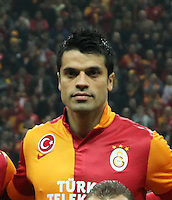 UEFA Champions League Quarter Final second leg match between Galatasaray and Real Madrid at Turk Telekom Arena Stadium on April 9, 2013 in Istanbul, Turkey.<br /> Match Scored: Galatasaray 3 - Real Madrid 2<br /> Pictured:  Galatasaray team photo.