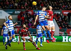 Aden Flint of Bristol City is challenged by David Edwards of Reading - Rogan/JMP - 26/12/2017 - Ashton Gate Stadium - Bristol, England - Bristol City v Reading - Sky Bet Championship.