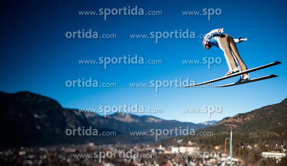 31.12.2016, Olympiaschanze, Garmisch Partenkirchen, GER, FIS Weltcup Ski Sprung, Vierschanzentournee, Garmisch Partenkirchen, Training, im Bild Jakub Janda (CZE), mit einem Tilt & Shift Objektiv fotografiert // Jakub Janda of Czech Republic photographed with a Tilt & Shift lens during his Practice Jump for the Four Hills Tournament of FIS Ski Jumping World Cup at the Olympiaschanze in Garmisch Partenkirchen, Germany on 2016/12/31. EXPA Pictures © 2017, PhotoCredit: EXPA/ JFK