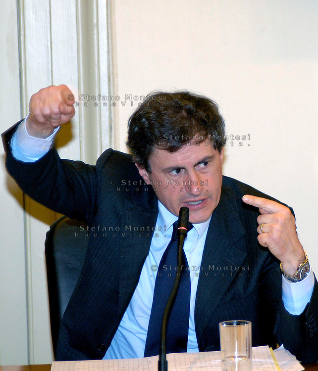 Rome May 7 2008.Provincial committee for the Order and Security.The mayor of Rome Gianni Alemanno