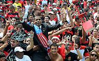 20091206: RIO DE JANEIRO, BRAZIL - Flamengo vs Gremio: Brazilian League 2009 - Flamengo won 2-1 and celebrated the 6th Brazilian Championship of its history. In picture: Barack Obama look-a-like fan celebrating victory. PHOTO: Andre Durao/CITYFILES