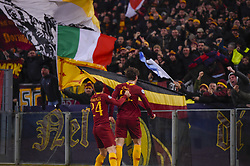 February 12, 2019 - Roma, Roma, Italia - Foto Luciano Rossi/AS Roma/ LaPresse.12/02/2019 Roma (Italia).Sport Calcio.AS Roma - Porto  .Uefa Champions League 2018 2019 - Stadio Olimpico di Roma.Nella foto: Nicolò Zaniolo, Alessandro Florenzi..Photo  Luciano Rossi/AS Roma/ LaPresse.12/02/2019 Roma (Italia).Sport Soccer.AS Roma - Porto   .Uefa Champions League 2018 2019 - Olimpic Stadium of Roma (Italy).In the pic: Nicolò Zaniolo, Alessandro Florenzi (Credit Image: © Luciano Rossi/Lapresse via ZUMA Press)