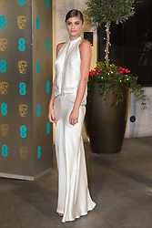 Photo Must Be Credited ©Alpha Press<br /> Taylor Hill arrives at the EE British Academy Film Awards after party dinner at the Grosvenor House Hotel in London.