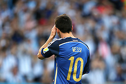 13.07.2014, Maracana, Rio de Janeiro, BRA, FIFA WM, Deutschland vs Argentinien, Finale, im Bild Lionel Messi (ARG), frustriert // during Final match between Germany and Argentina of the FIFA Worldcup Brazil 2014 at the Maracana in Rio de Janeiro, Brazil on 2014/07/13. EXPA Pictures © 2014, PhotoCredit: EXPA/ Eibner-Pressefoto/ Cezaro<br /> <br /> *****ATTENTION - OUT of GER*****