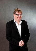 A portrait of James Runcie at the Edinburgh International Book Festival 2012 in Charlotte Square Gardens<br /> <br /> Pic by Pako Mera