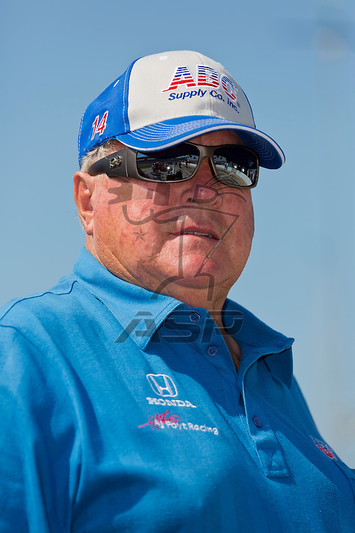 Ft WORTH, TX - JUN 08, 2012: A.J. Foyt watches his teams as they prepare to qualify for the Firestone 550 race at the Texas Motor Speedway in Fort Worth, TX.